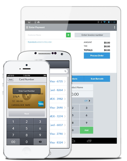 Phones showing Mobile Payment Acceptance application image